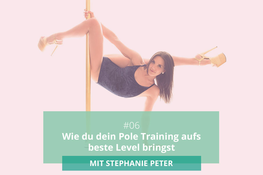 Stephanie Peter beim Pole Dance Podcast